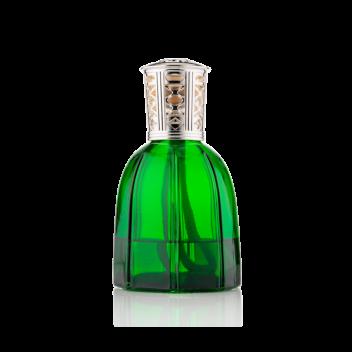 Lamparfum aus empoligrünem Glas mit Nachfüller